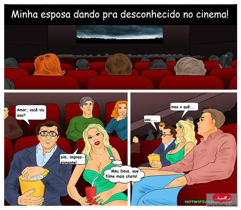 Minha esposa dando para desconhecido no cinema