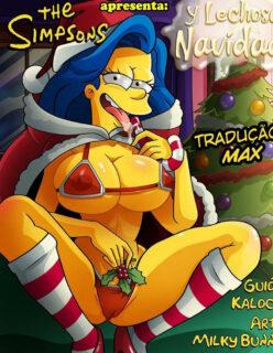 A festa de natal dos Simpsons